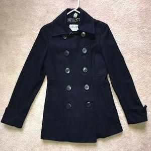 Delia's Navy Blue Pea Coat - XS